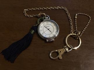 鎖付き懐中時計