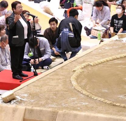 20180406 大相撲宝塚巡業で女性市長