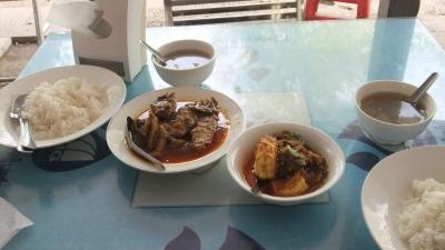 ヤンゴン シュェダゴンパゴダ30-1運ちゃんと昼食 高かった