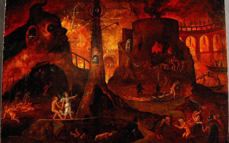 An_angel_leading_a_soul_into_hell__Oil_painting_by_a_followe_Wellcome_L0030887-800x500.jpg