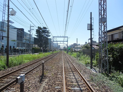 小田急江ノ島線の中央林間4号踏切@大和市e