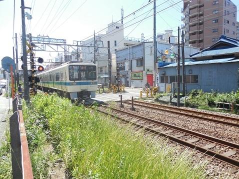 小田急江ノ島線の中央林間5号踏切@大和市f