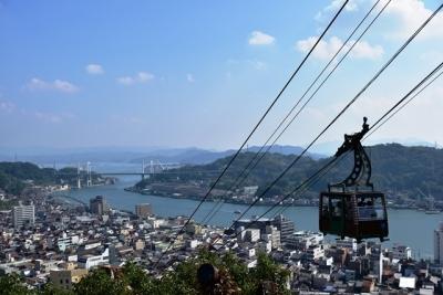 展望台から望む向島と松永湾