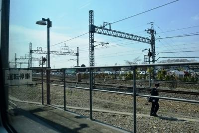 栗橋駅で運転停車(帰路の写真)