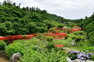 龍の形に並ぶ千本鳥居 高山稲荷神社