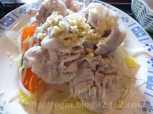 肉・野菜たっぷりの豚しゃぶ013