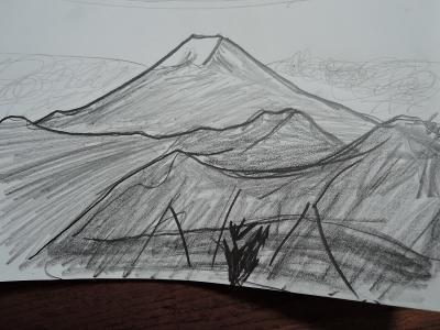 富士山、滝子山から