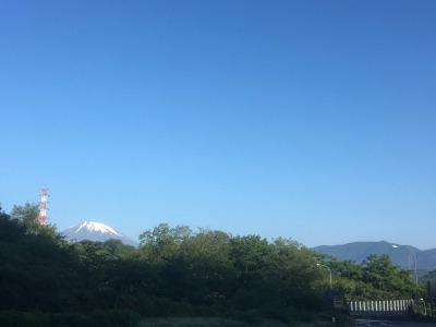 鮎沢PAから望む富士山