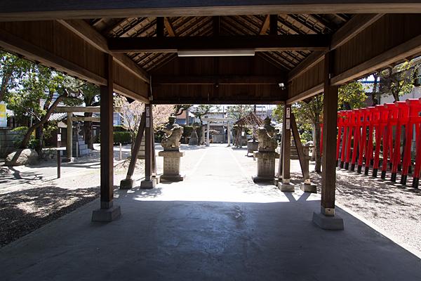 豊2伝馬神明社境内の風景