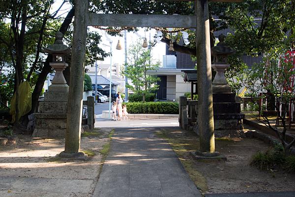 山神社の鳥居から