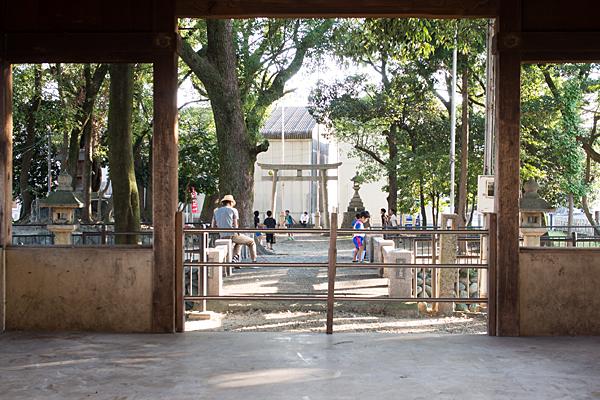 間黒神社の風景