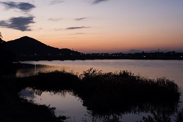 木曽川夕焼け