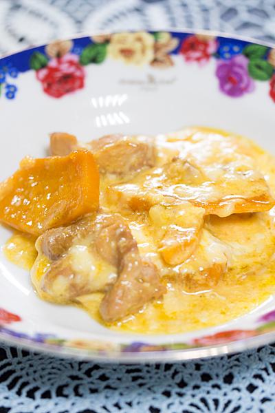 カボチャと鶏肉のチーズ