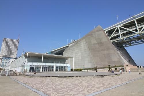 明石海峡大橋 神戸側アンカレイジ+橋の科学館