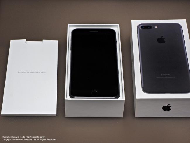 Apple iPhone 7 Plus 開封