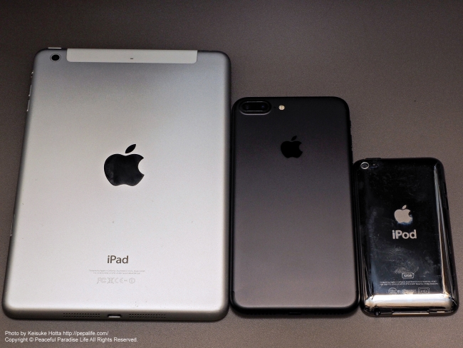 ipad mini 2、iPhone 7 Plus、iPod touch 4th