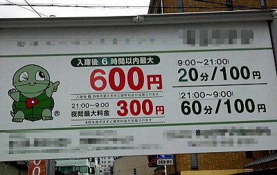 駐車料金。