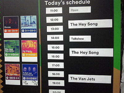 Today's Schedule。