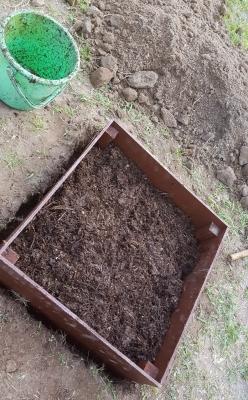 これでバケツ15杯分の腐葉土