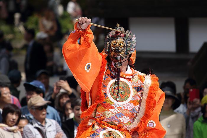 唐招提寺 うちわまき・舞楽4