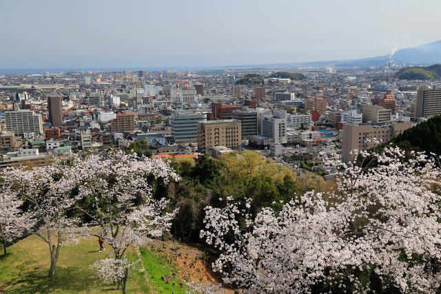 米子城山 桜 大山