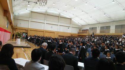 開智小学校入学式会場2