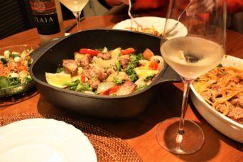 豚肩ロースと春野菜のローストとブロッコリーと舞茸のワンポットフィトチーネ3
