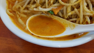 フタツメ ラージョー味噌タンメン スープ