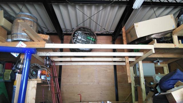 増築ロフト部の梁