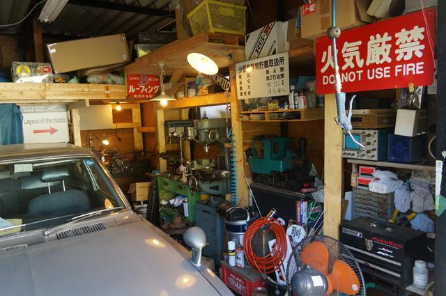 最近のルーチェ小屋の中 男のガレージ 旧車と旋盤とフライス