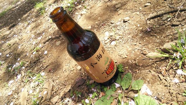 酵母が生きてるらしい、八海山ビール