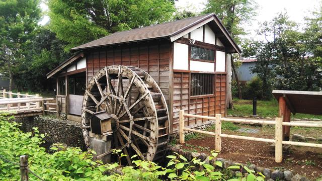 向島用水の水車小屋