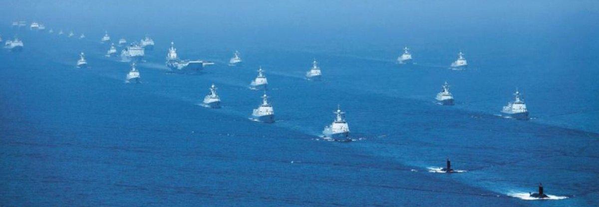 中国海軍として過去最大規模の観艦式
