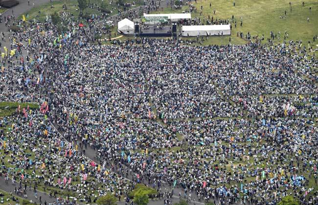 「憲法を守れ」5万人が参加