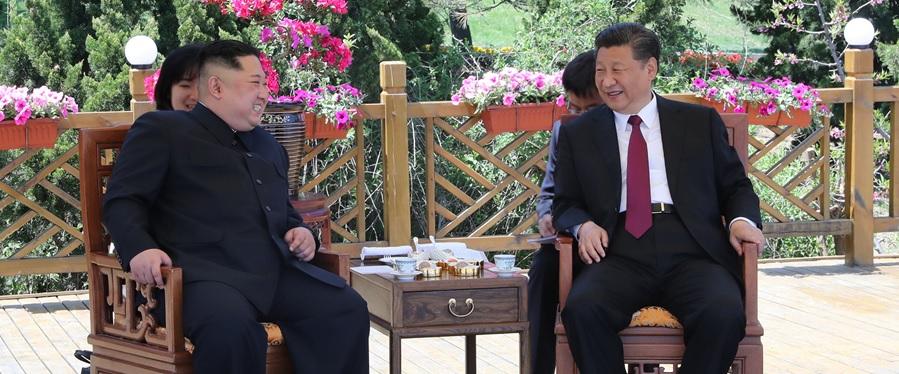 国家主席习近平同朝鲜劳动党委员长