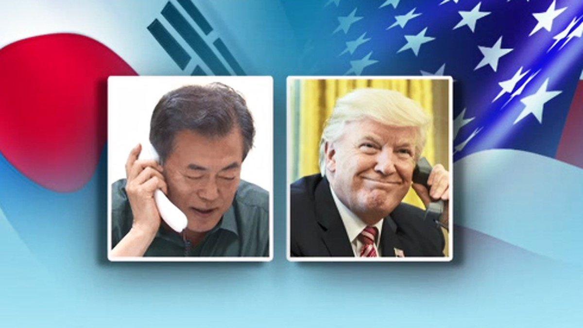 문재인 대통령, 남·북·미 회담 필요성 언급