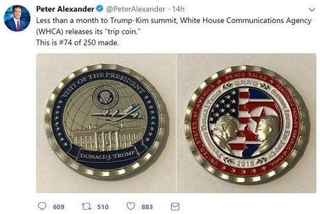 朝米首脳会談の記念コイン