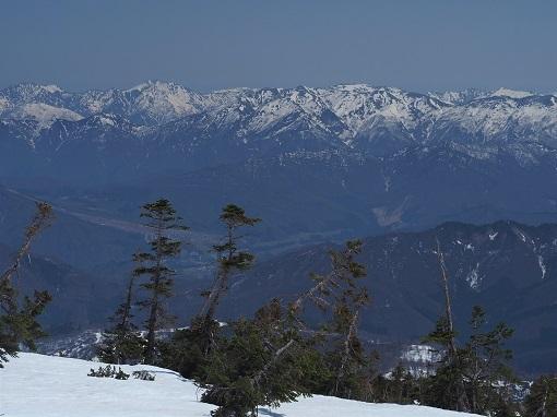 稜線から上越の山