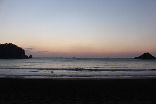 弓ヶ浜からみる日の出(2014.12.30)