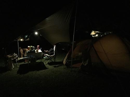 我が家だけで初めてのキャンプ(夜~2日目)