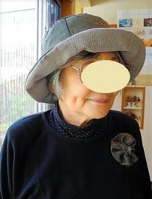 1804コサージュ付き帽子