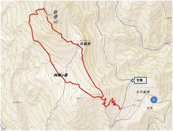 乾徳山地図