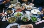 山菜で昼食