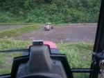 トラクターが沈没