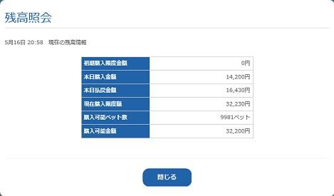 残高照会(18.05.16)