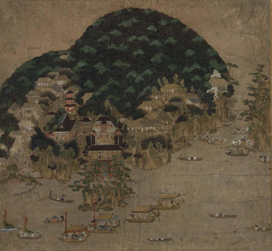 竹生島祭礼図