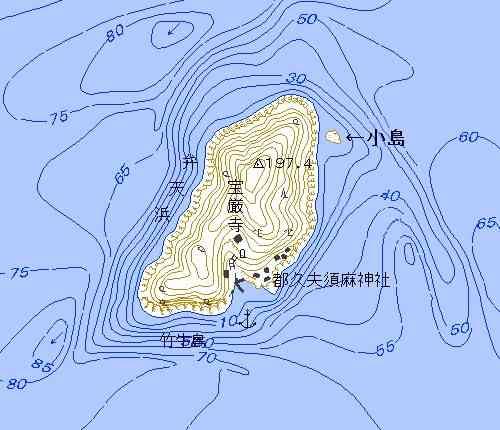 竹生島 小島