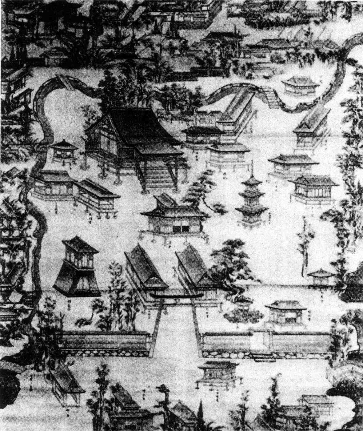 長浜八幡宮古絵図