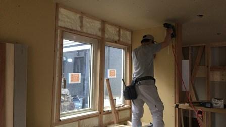 壁ボード施工 (1)