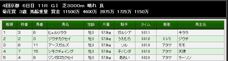 95S菊花賞結果